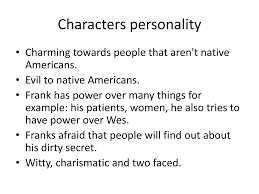 PPT - Frank character appearance? PowerPoint Presentation, free download -  ID:1903738
