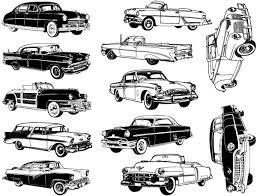 Large Retro Classic Car Decals For Glass Ceramic Or Enamel Custom Ceramic Decals Glass Fusing Decals Ceramic Luster Decals