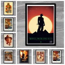 Perfect Jl Indiana Jones And The Last Crusade Classic Movie Art Painting Wall Pictures Classic Movie Poster Wall Stickers Wall Stickers Aliexpress