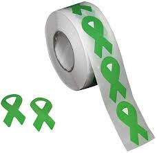Amazon Com Fundraising For A Cause Small Green Ribbon Awareness Stickers Green Ribbon Stickers For Organ Donation Cerebral Palsy Mental Health Liver Cancer Gun Control Awareness 500 Stickers