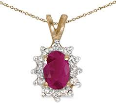 com 14k yellow gold oval ruby