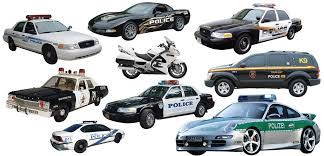 Police Multi Pack Wall Decal Cutouts