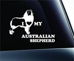 I Love My Australian Shepherd Dog Symbol Decal Funny Car Truck Sticker Window White Expressdecor Australian Shepherd Australian Shepherd Dogs Truck Stickers