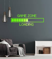 Vinyl Decal Game Zone Computer Gaming Decor Loading Video Game Wall St Wallstickers4you