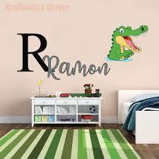 Amazon Com Alligator Custom Name Series Nursery Wall Decal Vinyl Sticker For Home Decor Medium W 30 X H 13 Baby