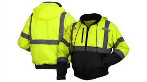 hi vis lime jacket pyramex safety