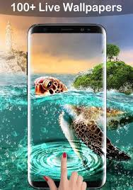 turtles lock screen live wallpaper
