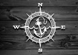 Anchor Compass Vinyl Decal Car Decal Navy Decal Laptop Etsy