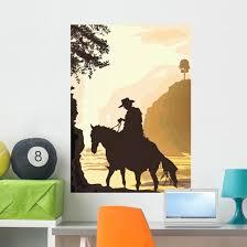 Cowboy Wall Decal Wallmonkeys Com