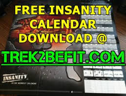 insanity workout calendar free