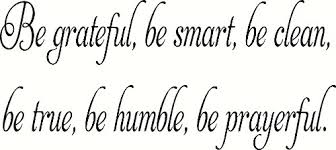 Be Grateful Be Smart Vinyl Wall Decal By Scripture Wall Art Scripture Wall Art Vinyl Decal Wall Art And More