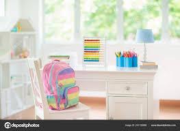 Kids Bedroom Wooden Desk Doll House White Sunny Room Big Stock Photo C Famveldman 241128880
