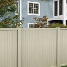 Veranda 3 1 2 Ft X 6 Ft Tan Vinyl Somerset Privacy Fence Gate 181977 The Home Depot