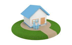 新築物件 | 家 | マイホーム | ファミリー | 水色 | 芝生 | ドア ...