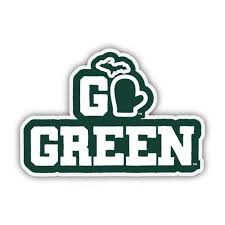 Michigan State University Go Green Decal Etsy