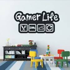 Gamer Life Wall Sticker Video Game Controller Wall Decal Kids Room Decor Ebay