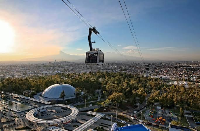 Vista del Teleférico de Puebla