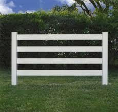 4 Rail Vinyl Horse Fence