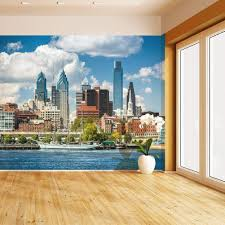 Amazon Com Himural Philadelphia Skyline Self Adhesive Peel And Stick Wallpaper Self Stick Mural Photos Home Wall Paper Sticker Wall Mural Decals Fresco Posters Removable Home Kitchen