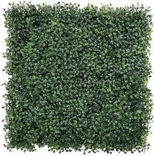 Amazon Com Uland Artificial Boxwood Hedges Panels Faux Grass Wall Shrubs Bushes Backdrop Garden Privacy Screen Fence Decoration Pack Of 12pcs 20 X20 Kitchen Dining