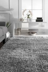 grey terrace fluffy speckled rug