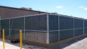 Commercial Vinyl Slats In Chain Link Rj Fence Decks