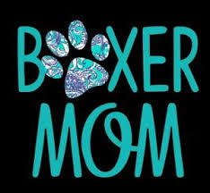 Boxer Mom Decal In Turquoise Great 16oz 20oz Or 30oz Insulated Cup 3 X 4 884288268204 Ebay