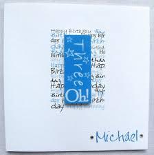 handmade birthday card 40th 50th 60th