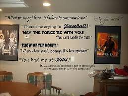 Movie Quotes Wall Lettering Decals For Theater Room Art Decor Murals Cinema Ebay