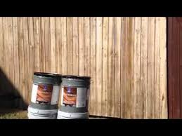 Fence Stain Sherwin Williams Deckscapes Youtube