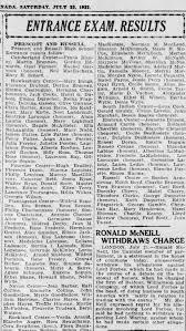 Annie Myrtle Roberts exam results Ottawa citizen July 22, 1922 ...
