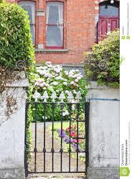 Black Wrought Iron Garden Door Dublin Ireland Stock Image Image Of Colourful Door 75958331