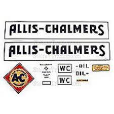 Mhva102 Allis Chalmers Wc Vinyl Decal Set