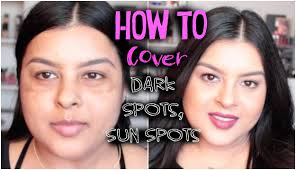 how to hide sun spots with makeup