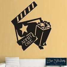 Wall Stickers Cinema Ticket Popcorn Film Movie Cool Living Room Art Decals Vinyl Ebay