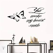 Amazon Com Jtzwmt Wall Sticker Inspirational Quotes You Make My Heart Smile Inspirational Love Home Kitchen