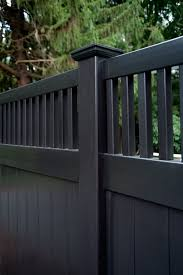 Illusions Black Vinyl Pvc Privacy Fencing Panels Will Fill Out Your Dream Backyard The Shown Style Is The V Vinyl Fence Panels Vinyl Privacy Fence Vinyl Fence
