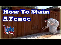 How To Stain A Fence Spraying A Fence With An Airless Paint Sprayer Youtube