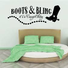 Boots And Bling It S A Cowgirl Thing Western Quote Wall Decal Vinyl Decal Car Decal Vd001 36 Inches Walmart Com Walmart Com
