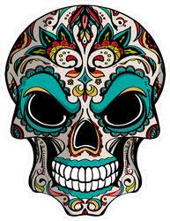 Evil Day Of The Dead Skull Sticker
