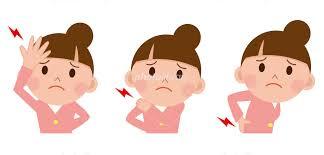 女性 頭痛 腰痛 肩こり イラスト素材 [ 2101601 ] - フォトライブラリー photolibrary