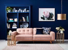 carson 3 seater sofa in retro pink