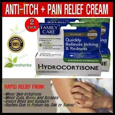 Hydrocortisone 1% Anti-itch Pain Relief Cream Poison Ivy Burns Insect Bite  1 oz | eBay