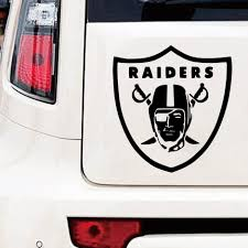 Funny Raiders Car Stickers Vinyl Decal For Rearview Mirror Cars Head Engine Cover Windows Decoration American Football Team Car Stickers Aliexpress