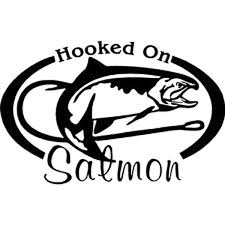 16cm 10 3cm Fishing Hooked On Salmon Coho Rod Reel Water Vinyl Decal Car Sticker Car Styling With Black Sliver Lm 6166 Wish