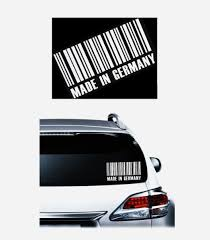Made In Germany Code Jdm Car Window Decal Stickers Custom Sticker Shop