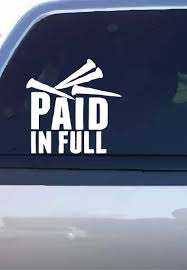 Paid In Full Decal Etsy People Of The World Galatians Paid In Full
