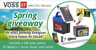 Electric Fence Co Uk On Twitter Voss Ef Giveaway Contest For The Bestseller Extra Power 9 V Solar Powered Energiser Kit Enter The Contest And Win This Amazing All Round Energiser Set Visit Https T Co Fujybbinzm For Details Giveaway