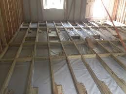 framing a floor over concrete