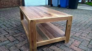 wooden pallet coffee table and end